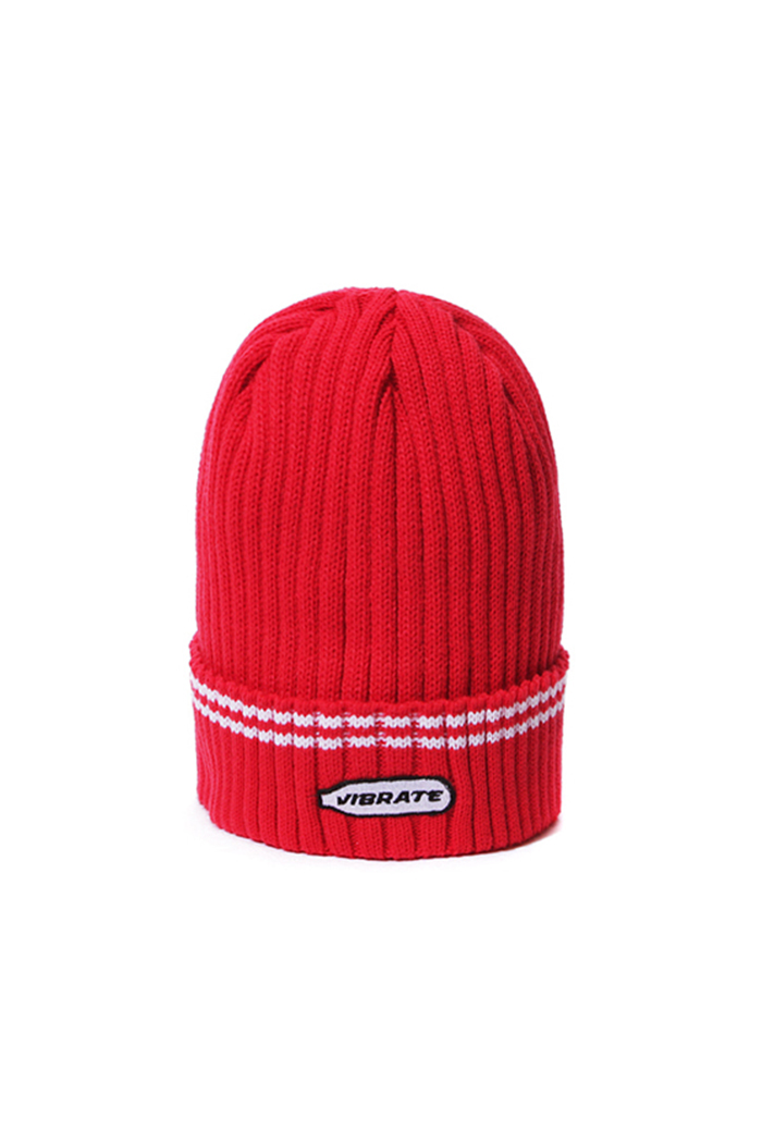 HAPPY PATCH BEANIE (RED)