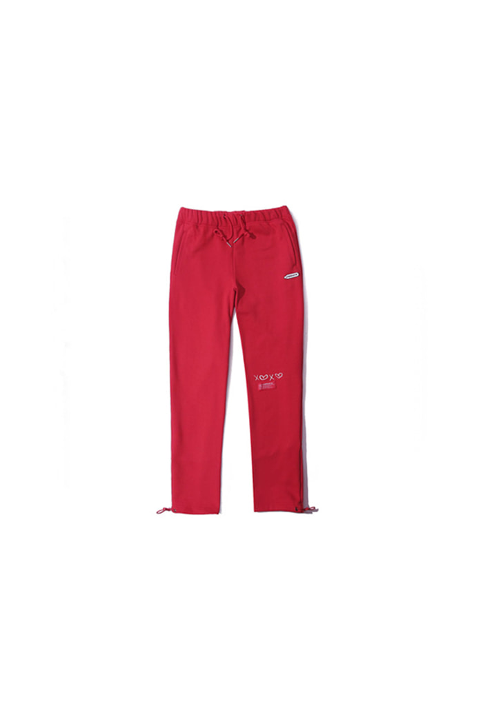 D.W.Y.Y BACK PRINT JERSEY PANTS (RED)