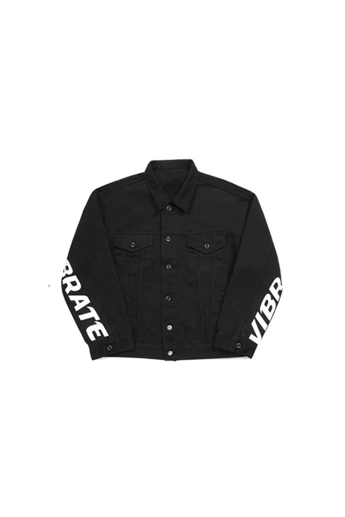 BASIC DENIM JACKET (BLACK)