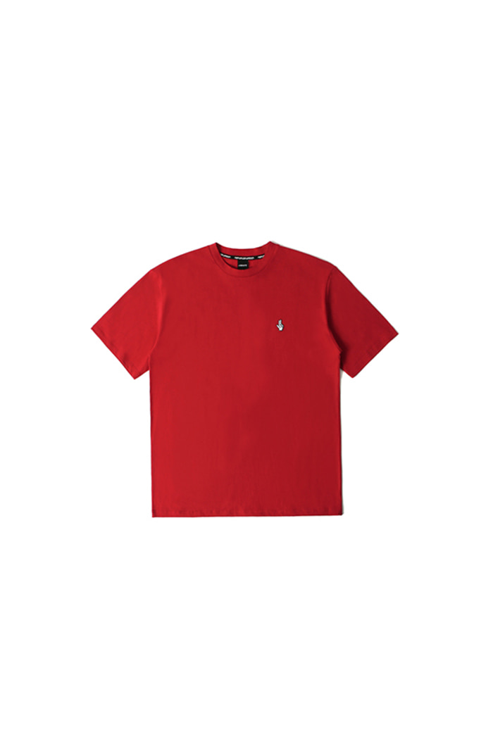 PIXEL LOGO COTTON T-SHIRT (RED)