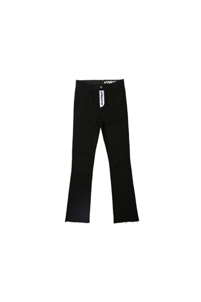 TWIN LOGO DENIM PANTS (BLACK)