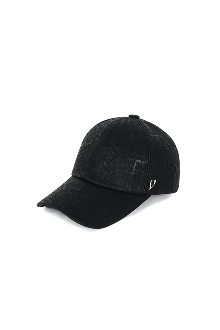 VINTAGE OIL LEATHER BALL CAP (BLACK)