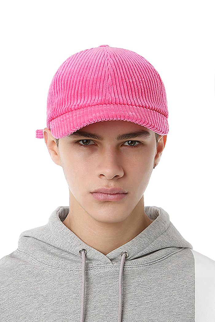 SIDE LOGO CORDUROY BALL CAP (PINK)