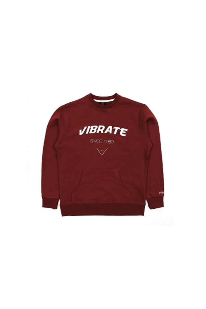 SIGNATURE POCKET SWEAT SHIRT (WINE)