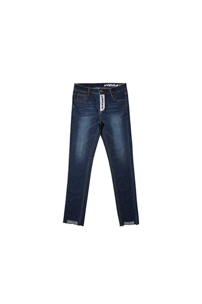 UNBALANCE CUTTING DENIM PANTS (DENIM)
