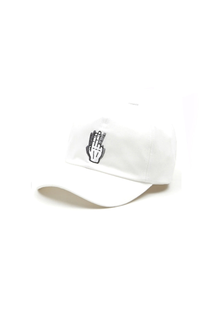 HAND SHAKE SIGN BALL CAP (white)