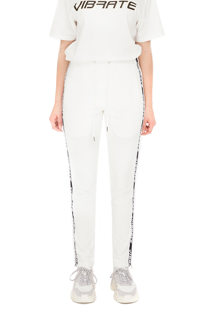 SIDE ZIPPER TAPING PANTS (WHITE)