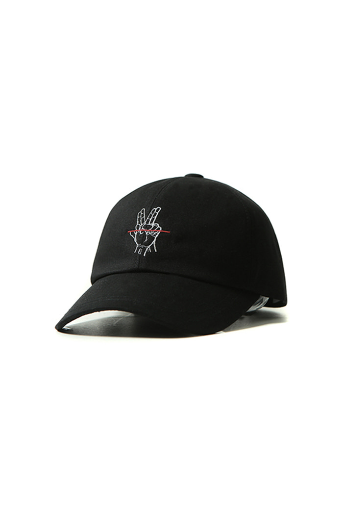 RED LINE BALL CAP (BLACK)
