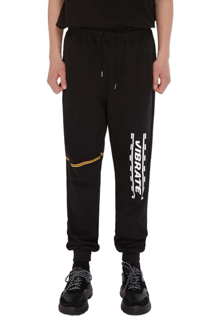 DOUBLE LINE JOGGER PANTS (BLACK)