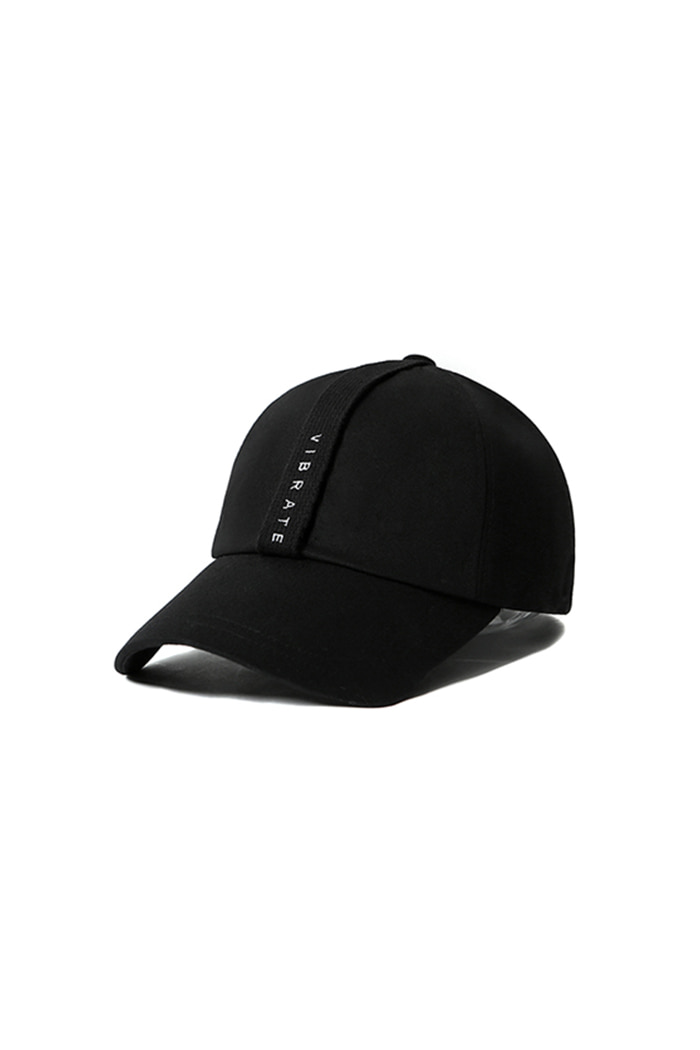 VERTICAL WEBBING LOGO BALL CAP (BLACK)