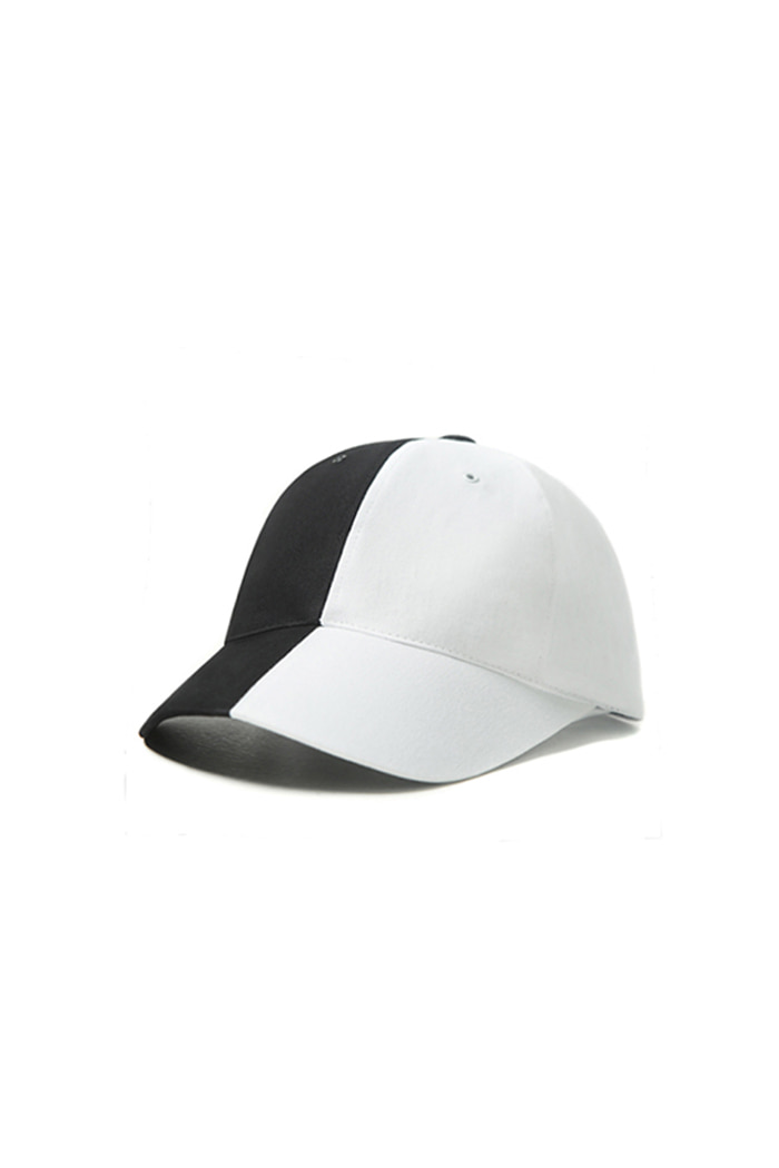 COTTON COLOR INVERSION BALL CAP (BLACK&WHITE)