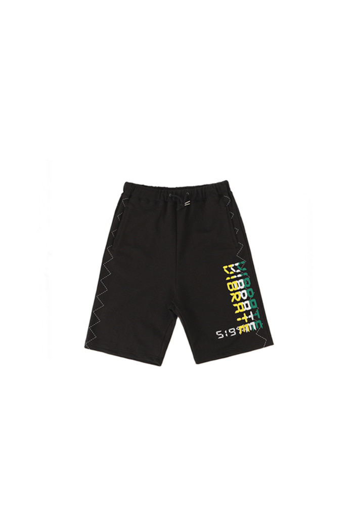 RETRO PANEL LOGO SHORT PANTS (BLACK)