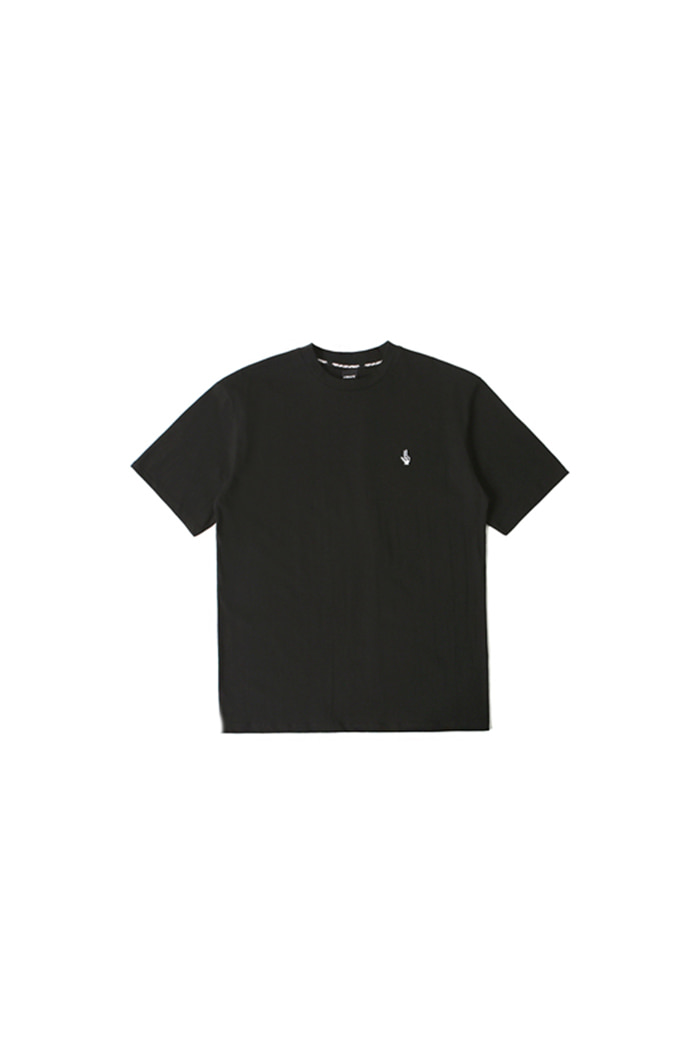 PIXEL LOGO COTTON T-SHIRT (BLACK)