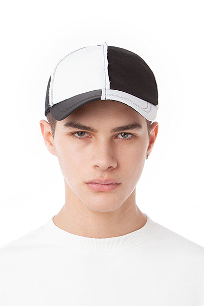 SHAKY BALL CAP (BLACK & WHITE)