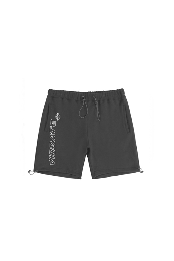 TRIPPER OUTLINE LOGO SHORT PANTS (BLACK)
