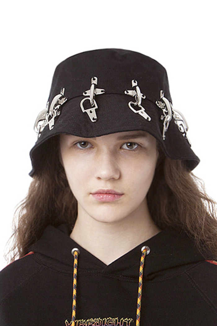 FIREFIGHTING HOOK BUCKET HAT NO.1 (BLACK)