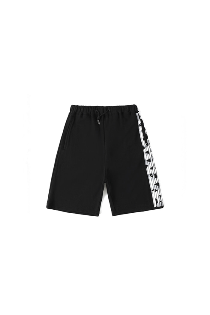 SIDE BIG LOGO SHORT PANTS (BLACK)