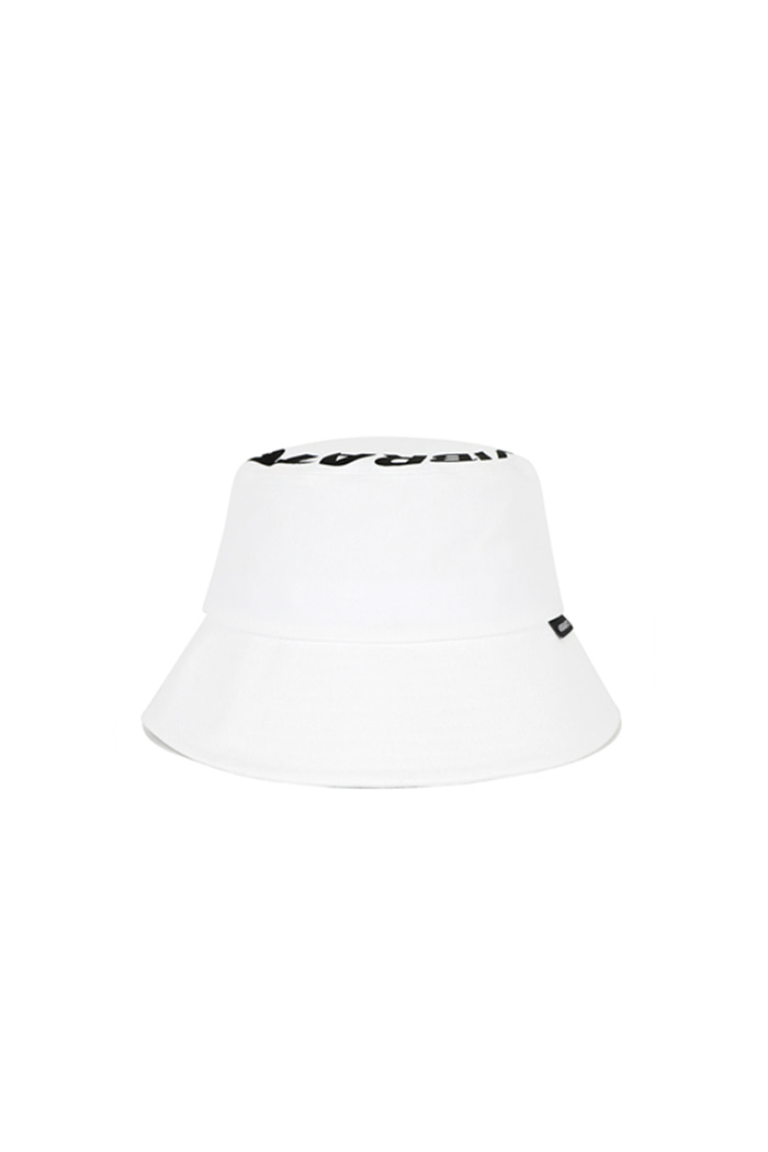 ROUNDING LOGO BUCKET HAT (WHITE)