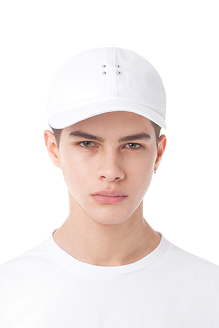 BASIC PIERCING BALL CAP (WHITE)