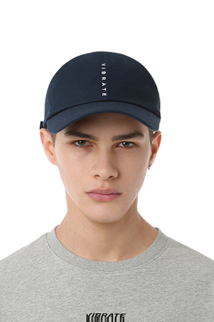 VERTICAL LOGO BALL CAP (NAVY)