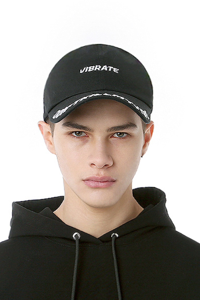 D.K.M.V VISOR EMBROIDERY BALL CAP (BLACK&WHITE)