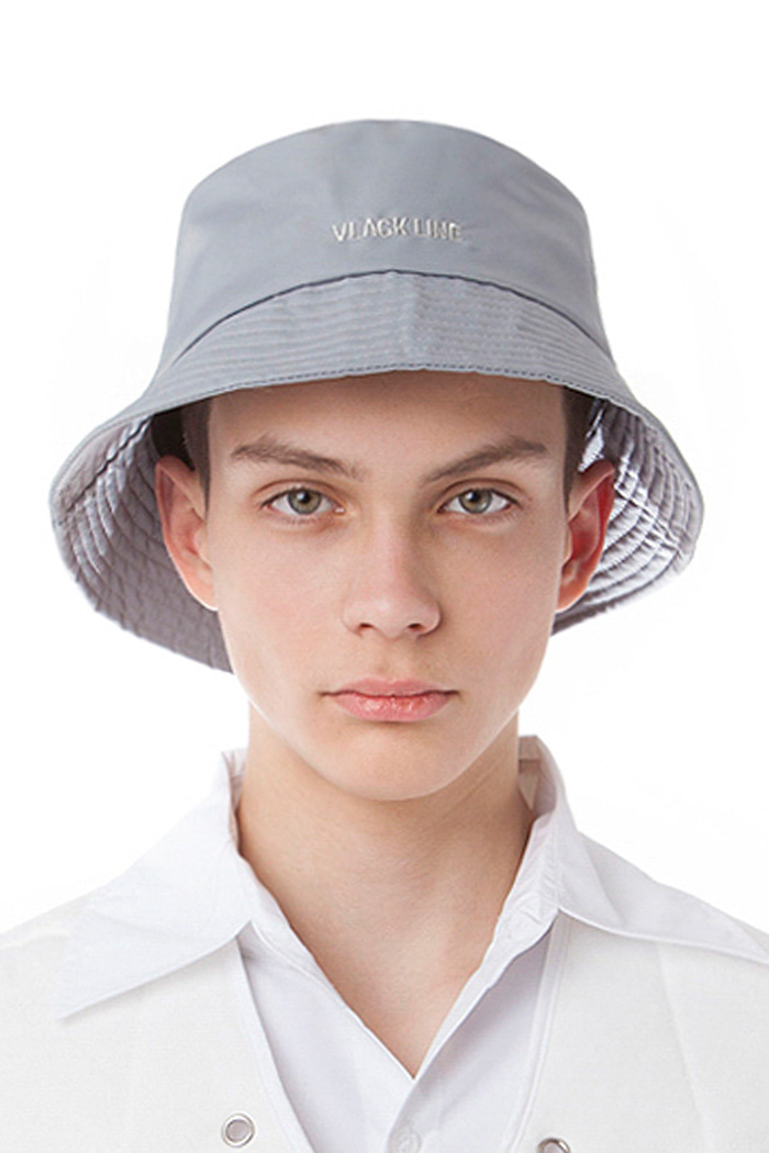 METAL NYLON CORD BUCKET HAT (SILVER)