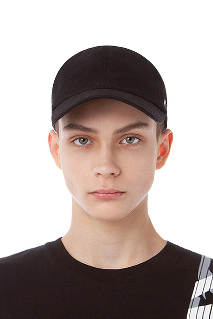 COTTON CAMO BALL CAP (BLACK)