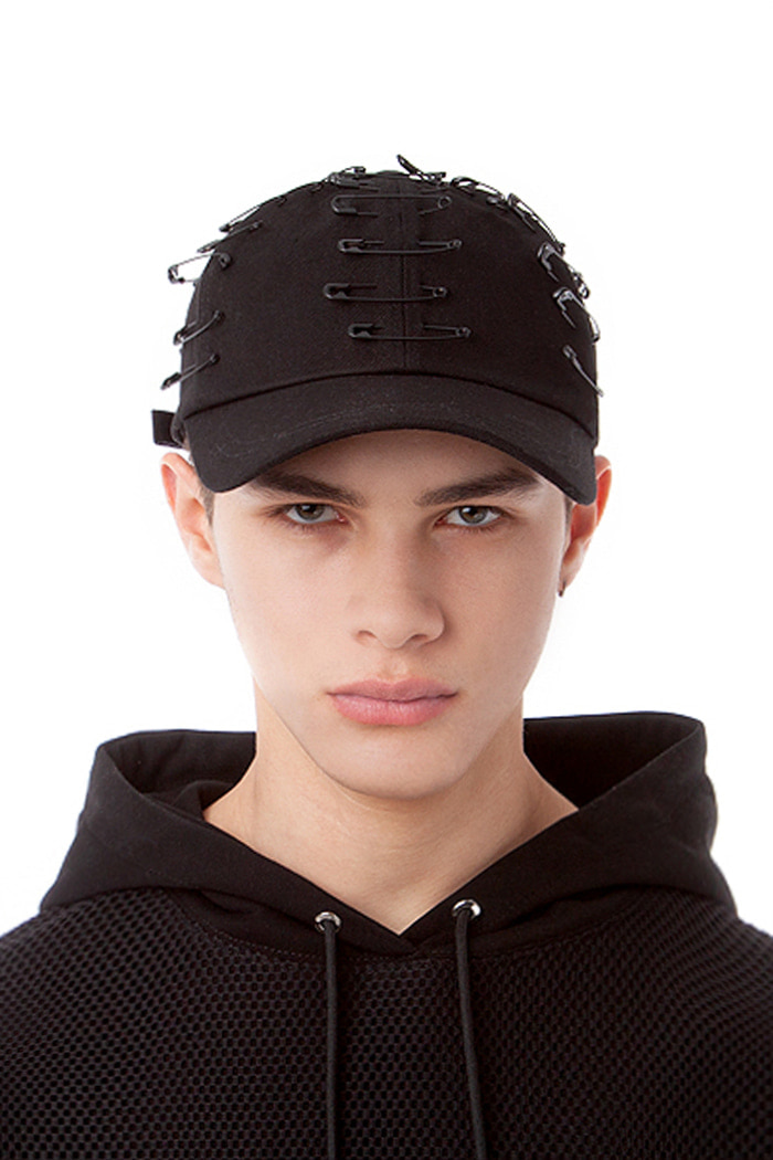 PIN POINT BALL CAP (BLACK)