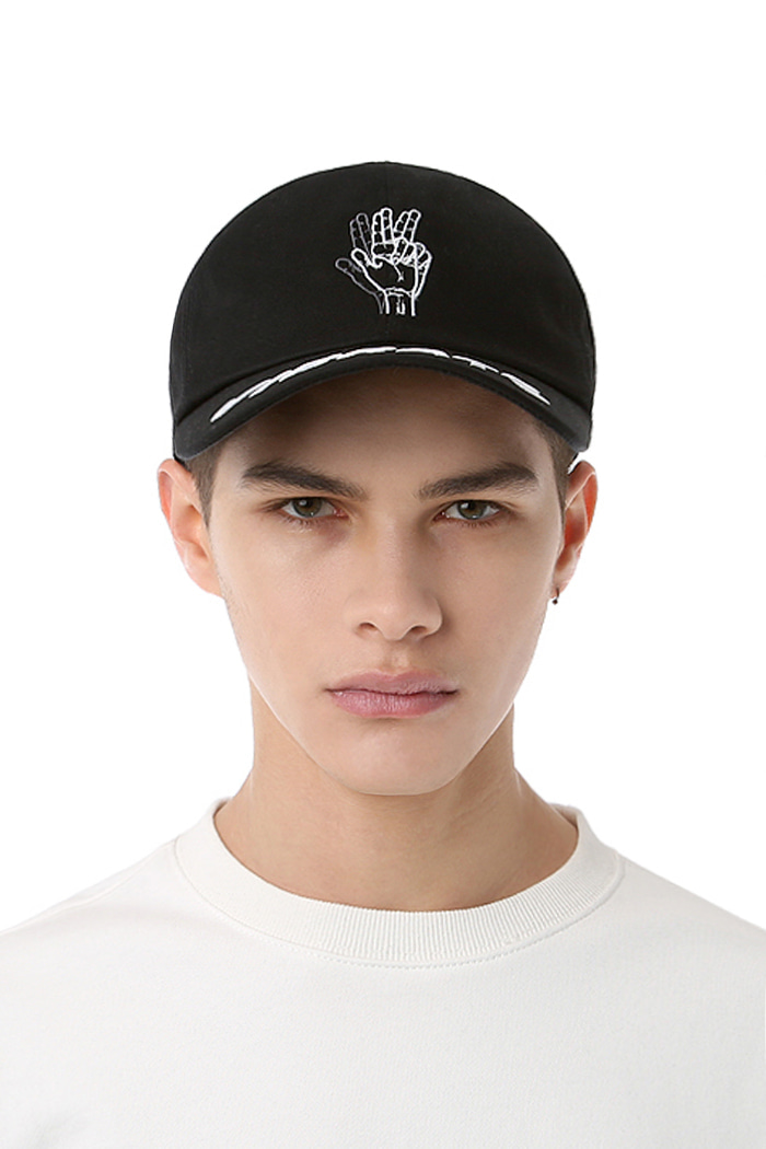 DOUBLE LOGO BALL CAP (BLACK)