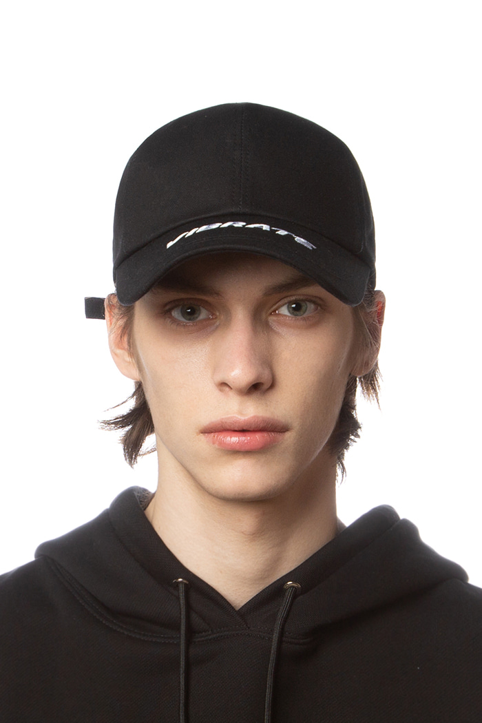 MIDDLE LOGO BALL CAP (BLACK)