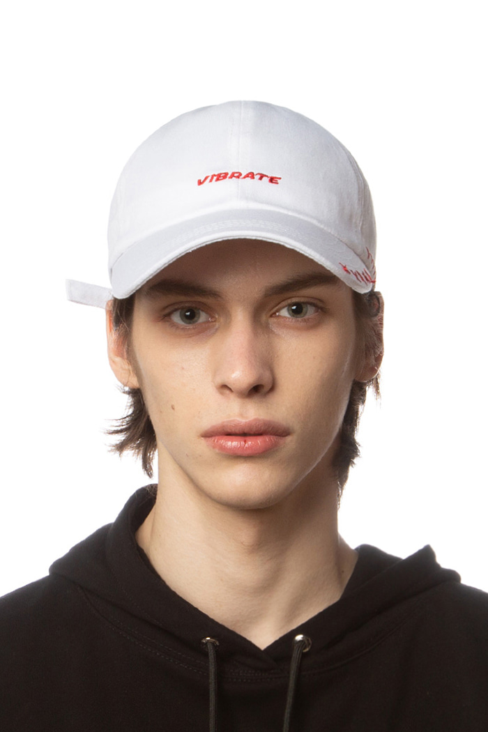 LOGO STITCH BALL CAP (WHITE)