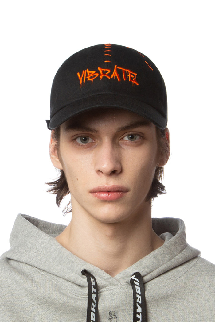 LETTERING LOGO STITCH BALL CAP (ORANGE)